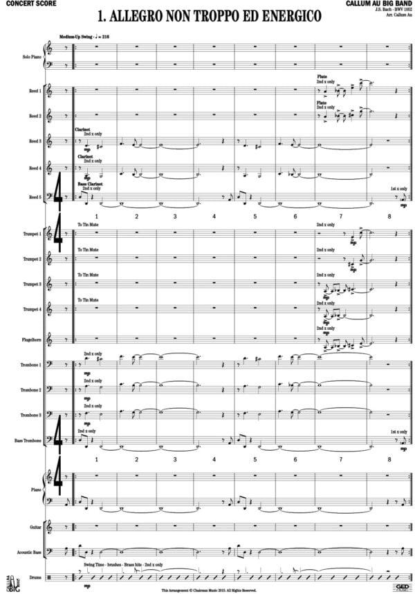 Bach Keyboard Concerto Mvt 1